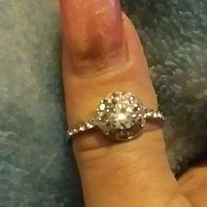 Silver princess engagement ring only 2 available